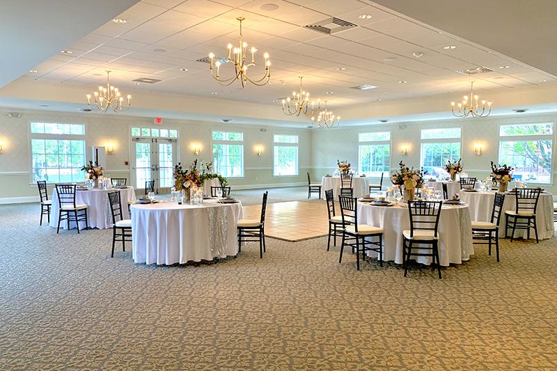 spacious ballroom